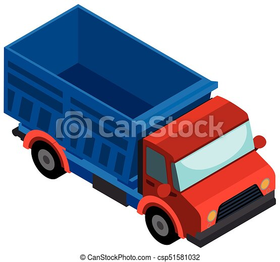 3D design for red truck - csp51581032