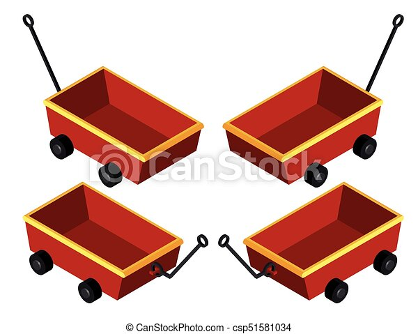 3D design for red wagons - csp51581034