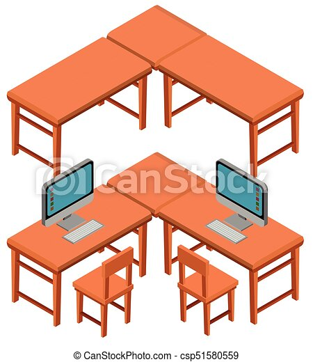 3d design for tables and chairs illustration clipart vector search rh canstockphoto com furniture clipart for floor plans free furniture clipart for floor plans