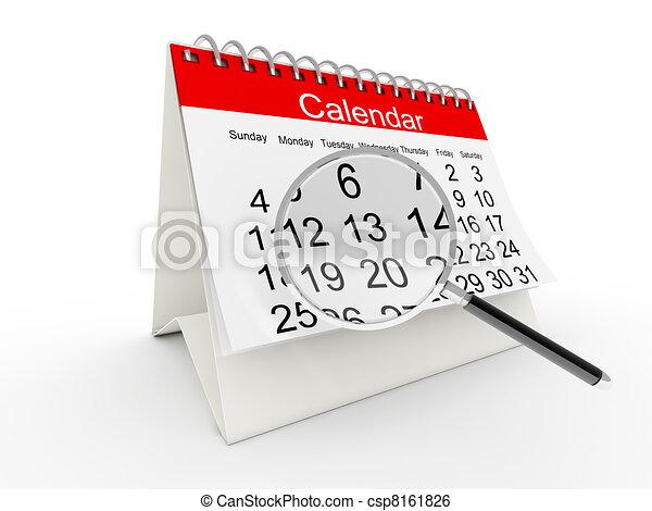 3D desktop calendar - csp8161826