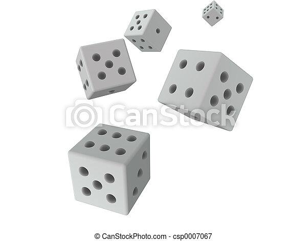 3D dices - grey - csp0007067