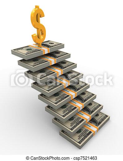 3d dollar stairs - csp7521463