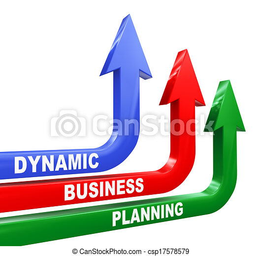 3d dynamic business planning arrows - csp17578579