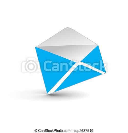 3d e-mail icon - csp2637519