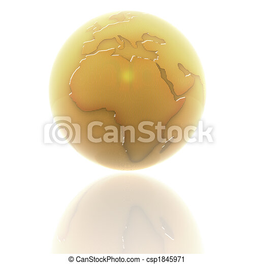 3d earth with color texture - csp1845971