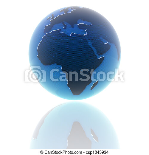 3d earth with color texture - csp1845934