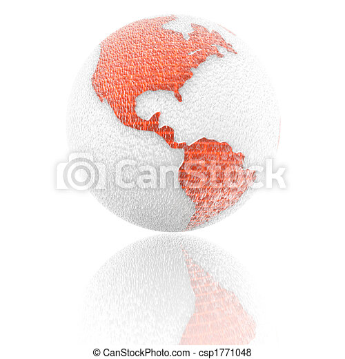 3d earth with color texture - csp1771048