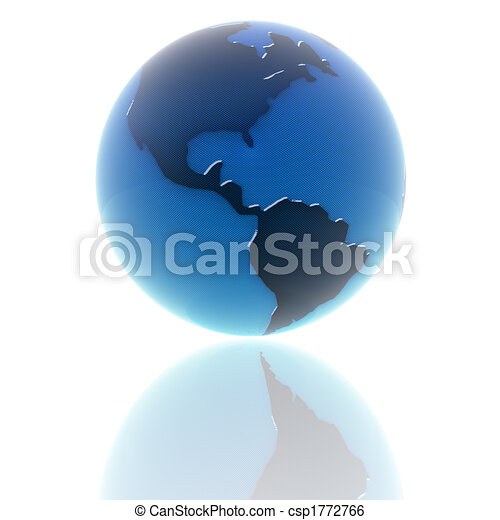 3d earth with color texture - csp1772766