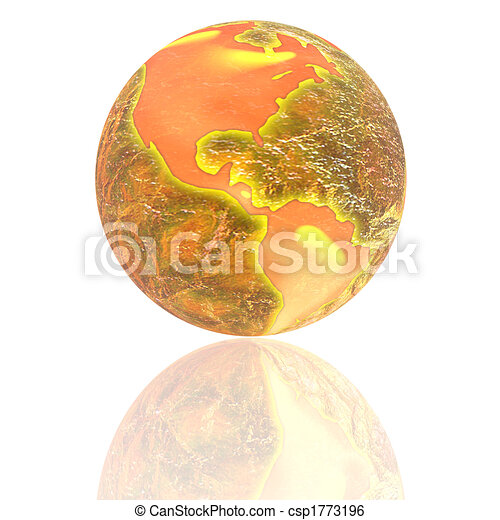 3d earth with color texture - csp1773196
