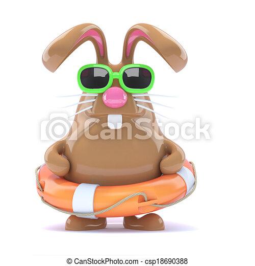 3d Easter bunny lifesaver - csp18690388