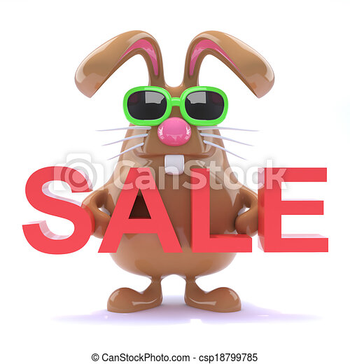 3d Easter bunny sale - csp18799785