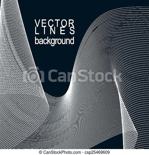 3d elegant flowing curves - csp25469609
