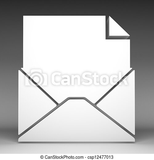 3d Email icon - csp12477013
