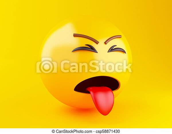 3d Emoji icons with facial expressions. - csp58871430