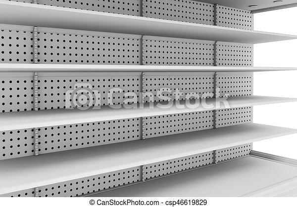 Sensational 3D Empty Supermarket Shelves Home Remodeling Inspirations Genioncuboardxyz