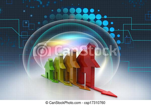 3d, Energy efficiency concept - csp17310760