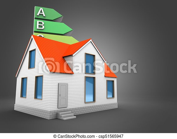 3d energy rating with house - csp51565947