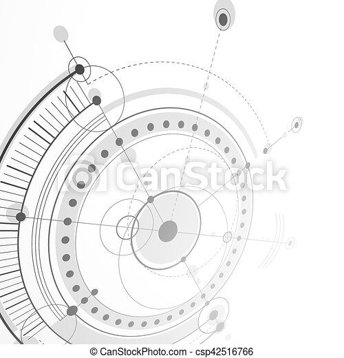 3d engineering technology vector backdrop. futuristic technical plan ...