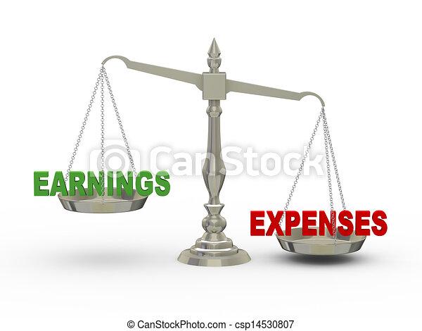 Ganancias tridimensionales y gastos a escala - csp14530807