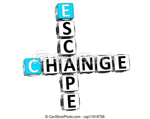 3D Escape Change Crossword - csp11618706