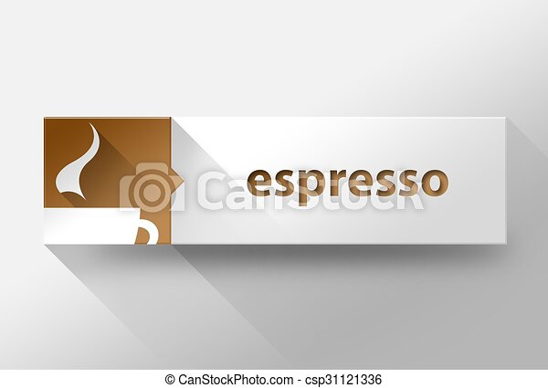 3d Espresso coffee flat design, illustration - csp31121336