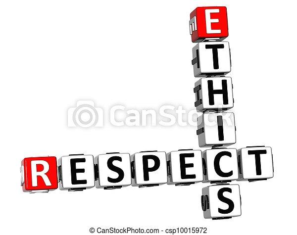 3D Ethics Respect Crossword - csp10015972