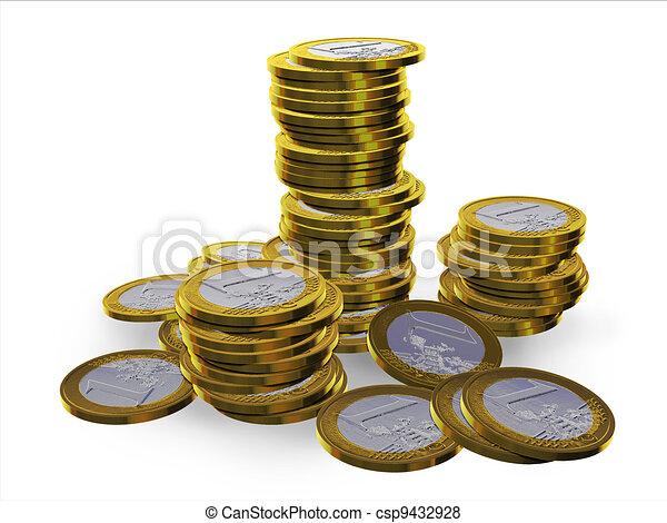 3d euros - csp9432928