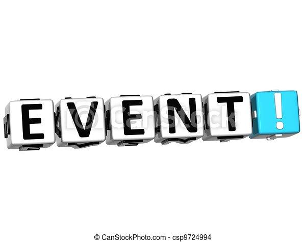 3D Event Crossword - csp9724994
