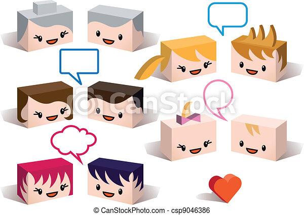 3D family avatars, vector - csp9046386
