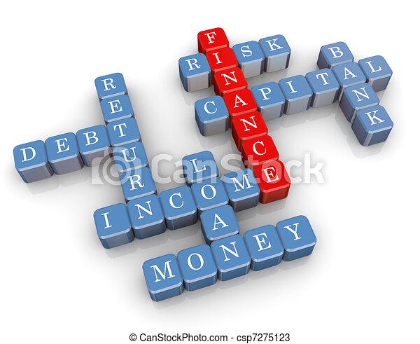 3d finance crossword - csp7275123