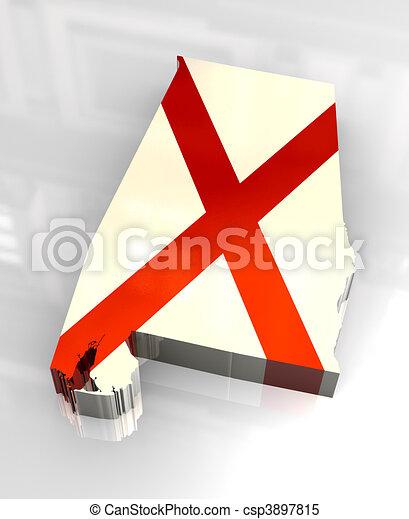 3d flag flag of Alabama - csp3897815