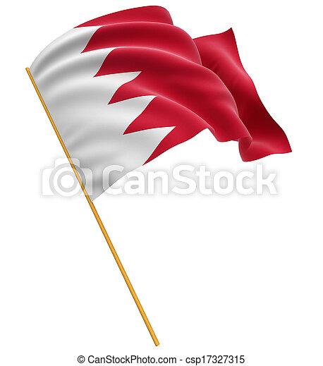 3D Flag of Bahrain - csp17327315