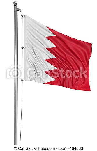 3D Flag of Bahrain - csp17464583