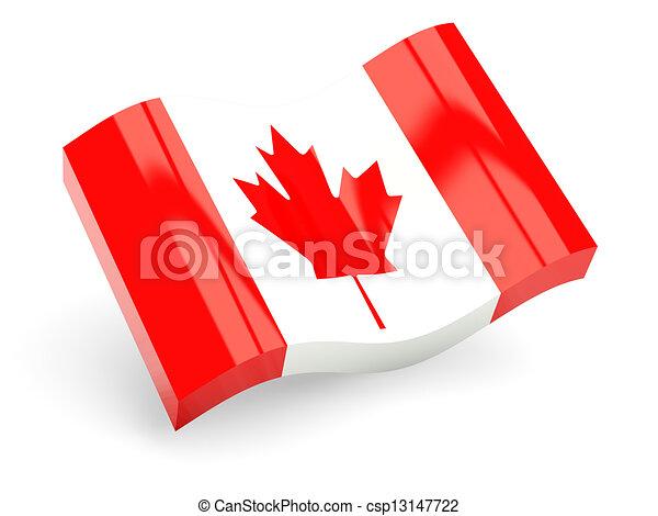 3d flag of canada - csp13147722