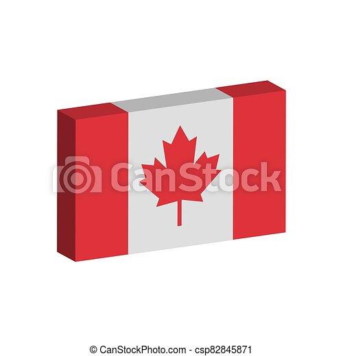 3D flag of Canada - csp82845871