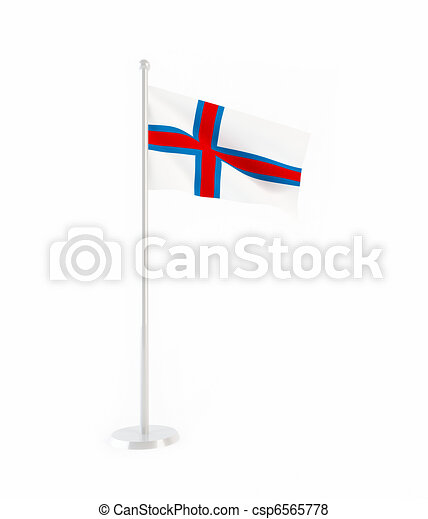 3D flag of Faroe Islands - csp6565778