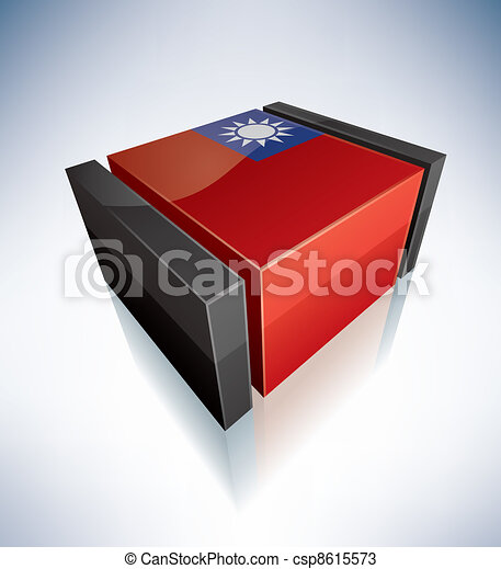 3D flag of Taiwan - csp8615573