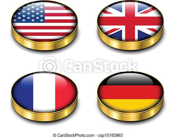 3D flags button - csp15183963