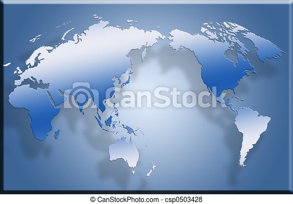 3d flat world map 3d map laid out flat against blue stock 3d flat world map csp0503428 gumiabroncs Image collections