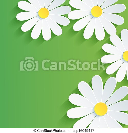 3d Flower Chamomile Spring Abstract Background