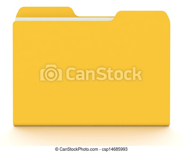 3D folder/file concept with white. - csp14685993