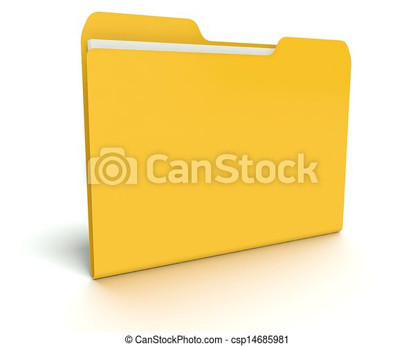 3D folder/file concept with white. - csp14685981