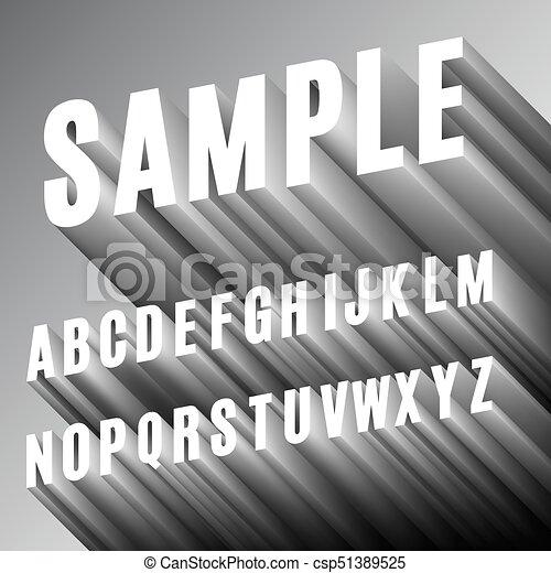 3D Font Alphabet - csp51389525