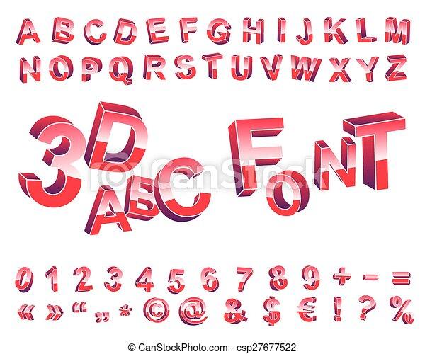3D font. - csp27677522