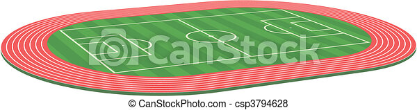 3d Football soccer field pitch - csp3794628