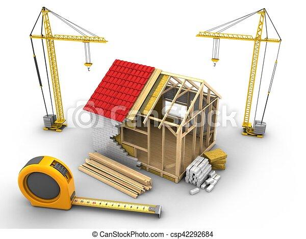 Delightful 3d Frame House Construction   Csp42292684