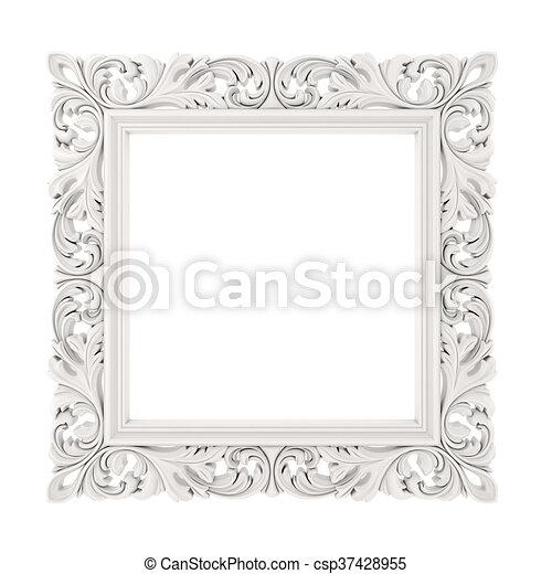 3d frame on white background - csp37428955