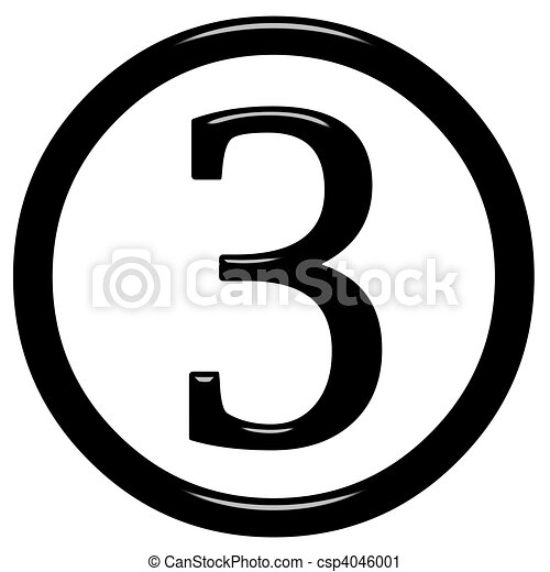 3d framed number 3 3d framed number 3 isolated in white rh canstockphoto com 3 clipart png 3 clipart black and white