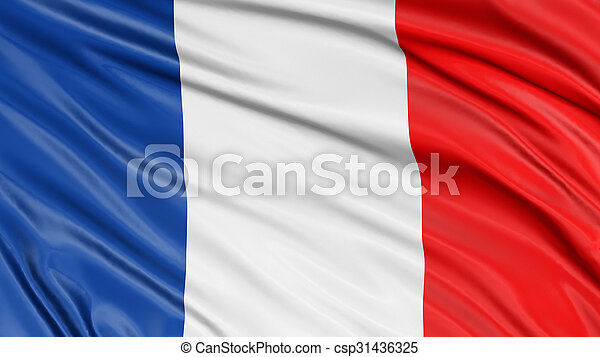 3D French flag - csp31436325