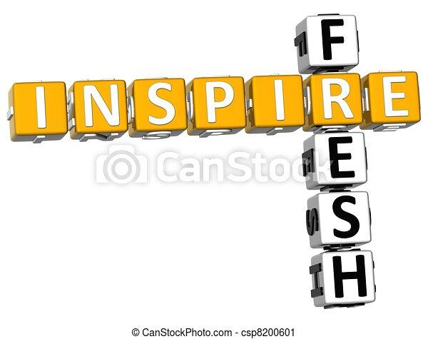 3D Fresh Inspire Crossword - csp8200601